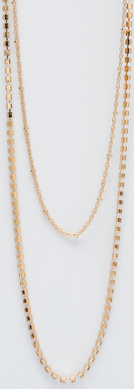 Sinsay - Kaskadowy łańcuszek - Złoty