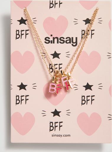 Sinsay - Naszyjniki z literami BFF - Beżowy