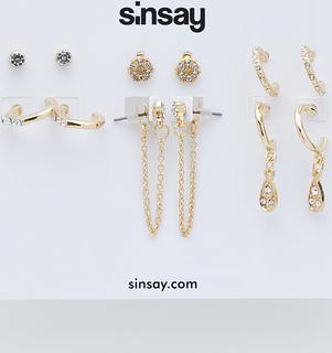Sinsay - Zestaw kolczyków - Złoty
