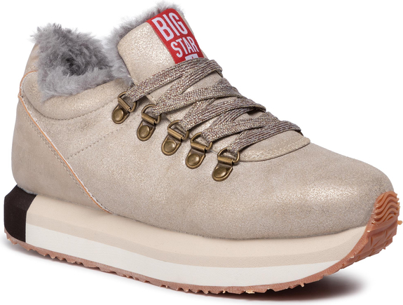 Sneakersy Big Star na platformie sznurowane
