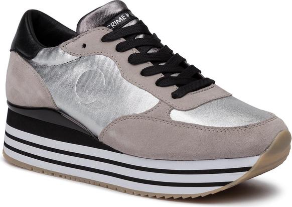 Sneakersy damskie Crime London bez wzorów na platformie Buty
