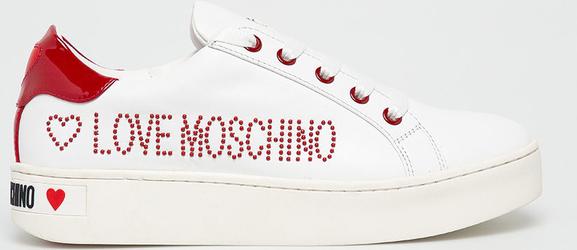 najlepszy Sneakersy Love Moschino z płaską podeszwą Buty