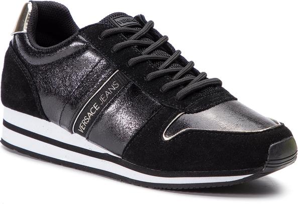 Sneakersy Versace Jeans w sportowym stylu sznurowane z zamszu