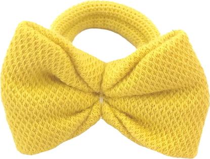 Sówka.net.pl Sówka gumka do włosów z kokardką - żółte