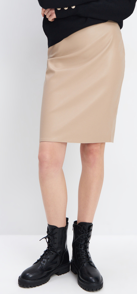 Spódnica Mohito ze skóry