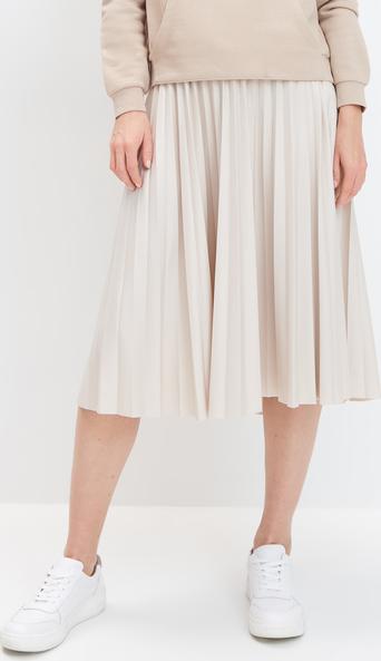 Spódnica Mohito ze skóry midi