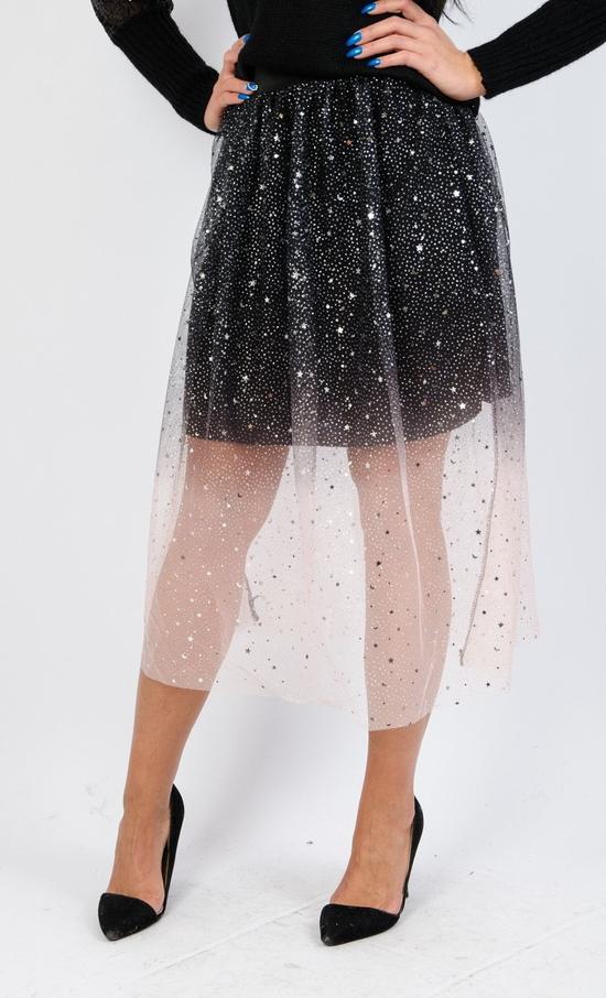 Spódnica Olika w młodzieżowym stylu z tiulu