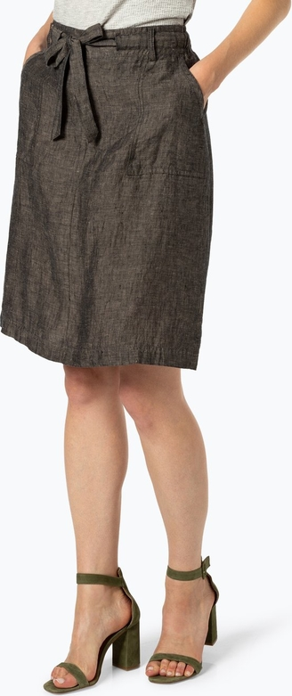 Spódnica Opus z lnu w stylu casual
