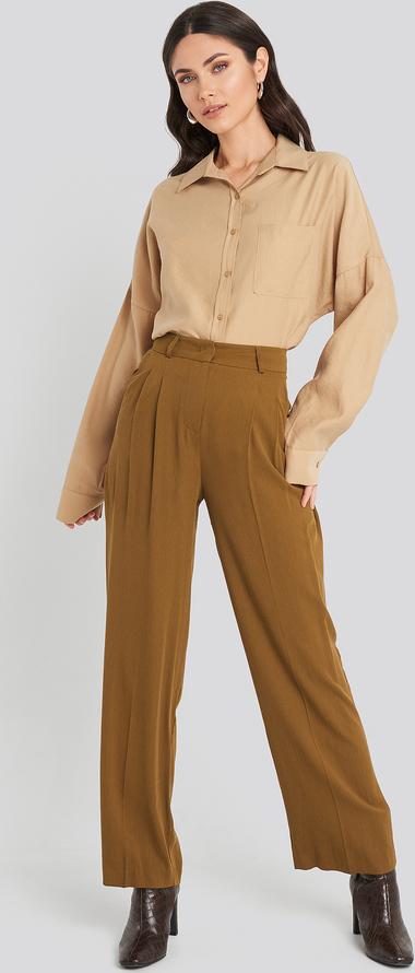 oferta Brązowe spodnie Beyyoglu Odzież Damskie Spodnie