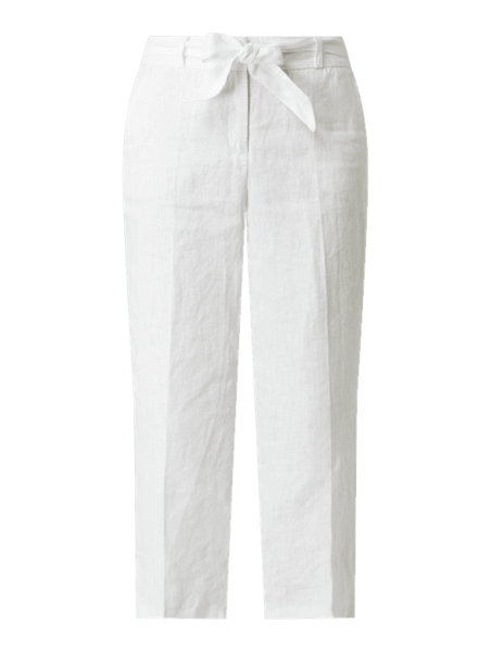 Spodnie Cambio z lnu w stylu casual