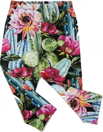 Spodnie dziecięce ilovemilk.pl w kwiaty dla dziewczynek