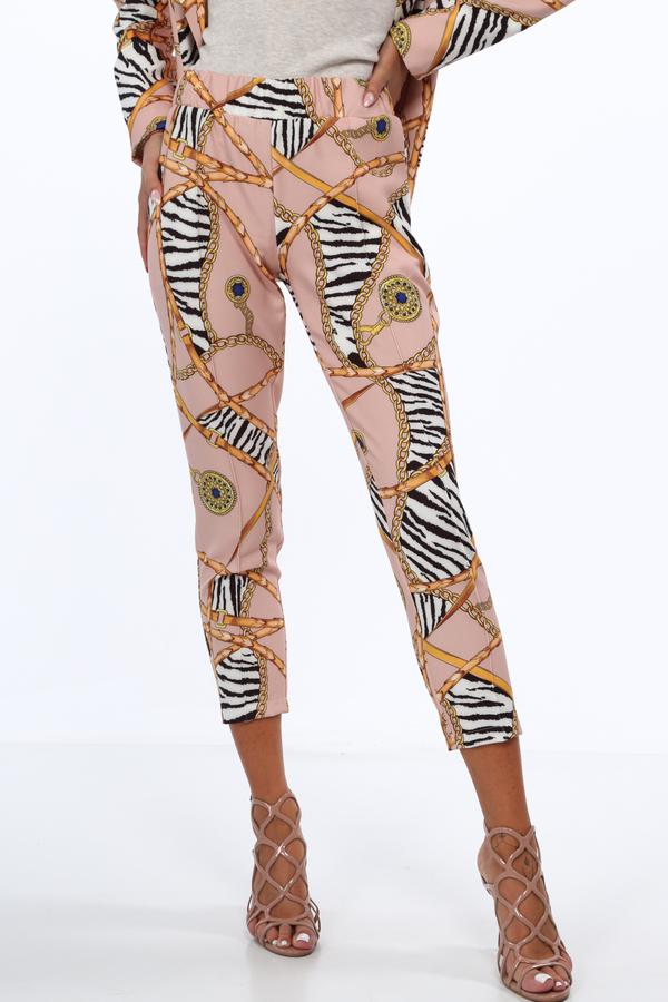 Spodnie Fasardi w stylu boho z tkaniny