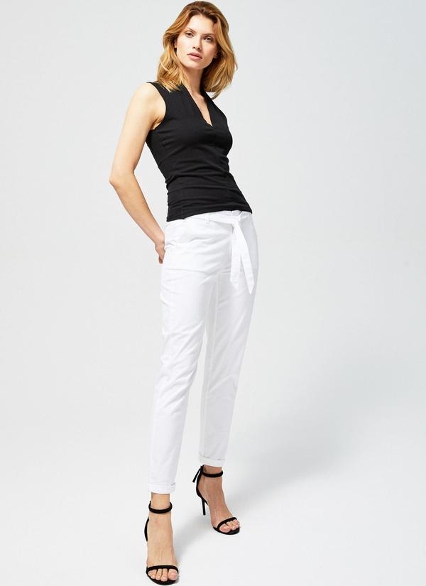 Spodnie Moodo w stylu casual z bawełny