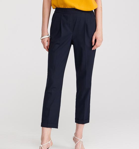 w ofercie Granatowe spodnie Reserved Odzież Damskie Spodnie