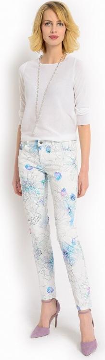 Spodnie w kwiatowe wzory potis & verso anturium