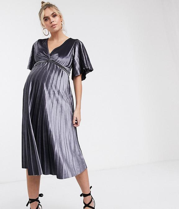 Srebrna sukienka Asos