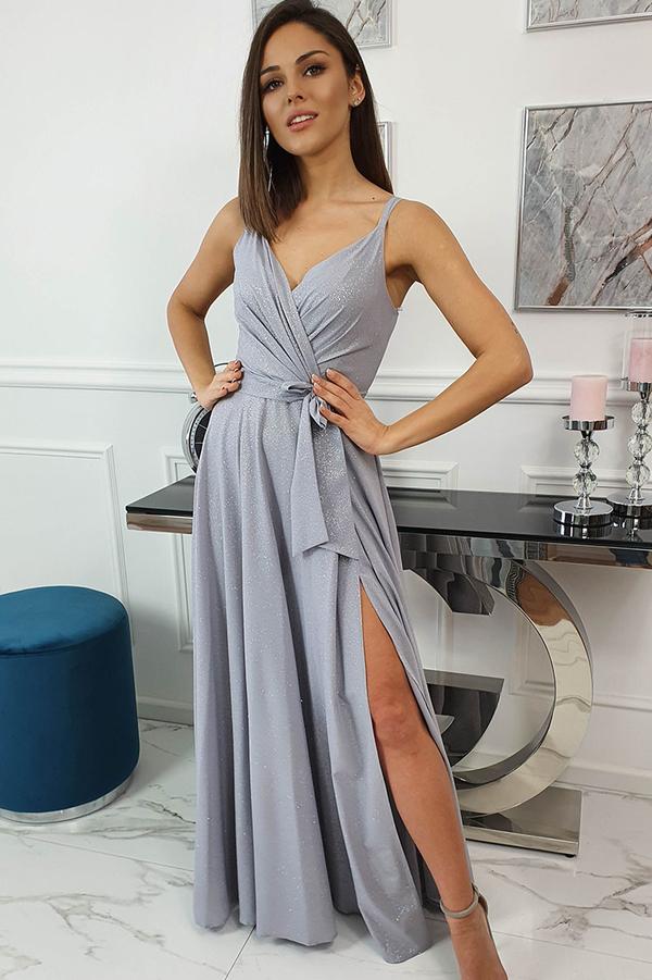 Srebrna sukienka fashion-freak.pl