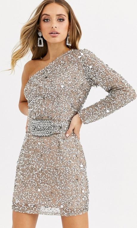 Srebrna sukienka Missguided