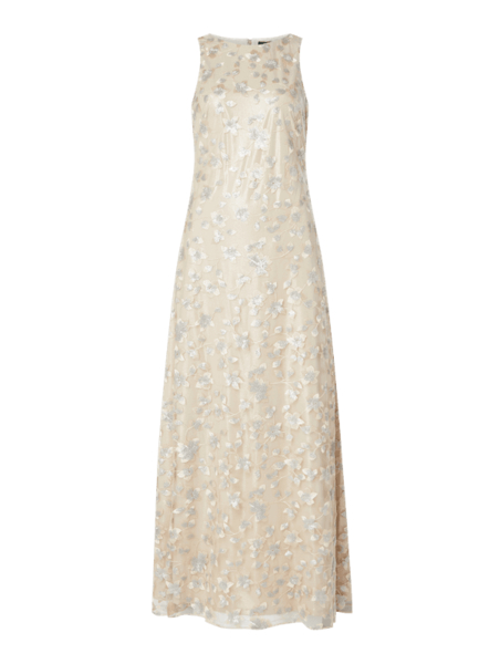 Srebrna sukienka Ralph Lauren