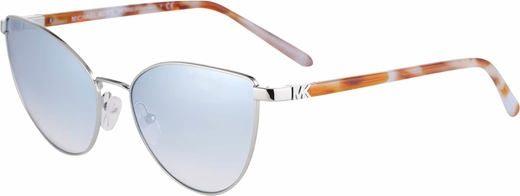 Srebrne okulary damskie Michael Kors