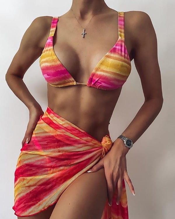Strój kąpielowy Kendallme z nadrukiem w stylu casual