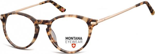 Stylion Okrągłe oprawki optyczne,lenonki korekcyjne Montana MA63C jasna panterka
