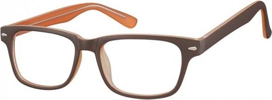 Stylion Okulary Zerówki klasyczne oprawki Sunoptic CP156B brązowe