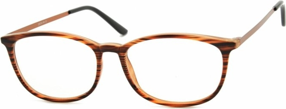 Stylion Oprawki korekcyjne Nerdy zerówki Sunoptic CP143G brązowe-imitacja drewna
