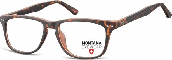 Stylion Oprawki optyczne korekcyjne Nerdy Wayfarer Montana MA60A panterka/szylkret