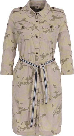Sukienka Aeronautica Militare mini w militarnym stylu z długim rękawem