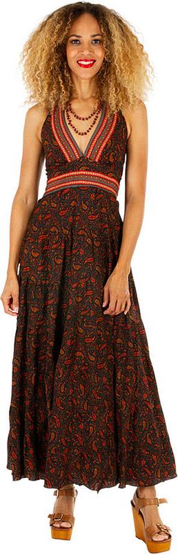 Sukienka Aller Simplement z dekoltem w kształcie litery v maxi