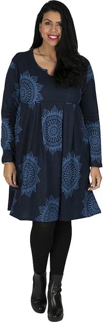 Sukienka Aller Simplement z długim rękawem w stylu casual mini