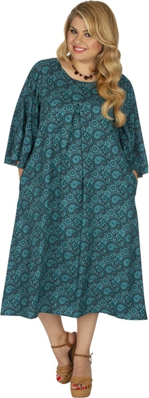 Sukienka Aller Simplement z okrągłym dekoltem