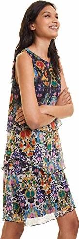 Sukienka amazon.de bez rękawów prosta z okrągłym dekoltem