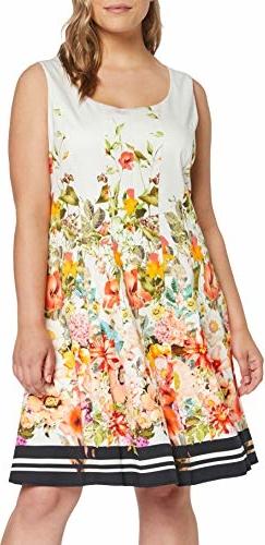 Sukienka amazon.de bez rękawów z okrągłym dekoltem mini