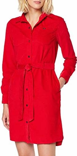 Sukienka amazon.de koszulowa z długim rękawem w stylu casual