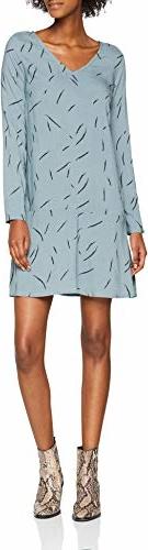 Sukienka amazon.de z dekoltem w kształcie litery v w stylu casual z długim rękawem