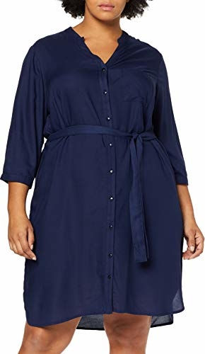 Sukienka amazon.de z długim rękawem mini z dekoltem w kształcie litery v