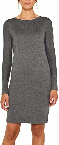 Sukienka amazon.de z długim rękawem w stylu casual dla puszystych