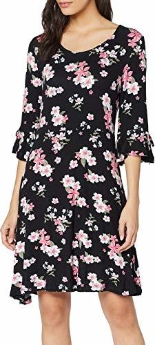 Sukienka amazon.de z długim rękawem z dekoltem w kształcie litery v w stylu casual