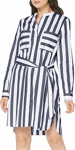 Sukienka amazon.de z jedwabiu z dekoltem w kształcie litery v koszulowa