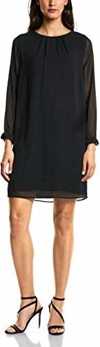 Sukienka amazon.de z okrągłym dekoltem prosta mini