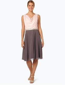 Sukienka Ambiance bez rękawów z szyfonu z dekoltem woda