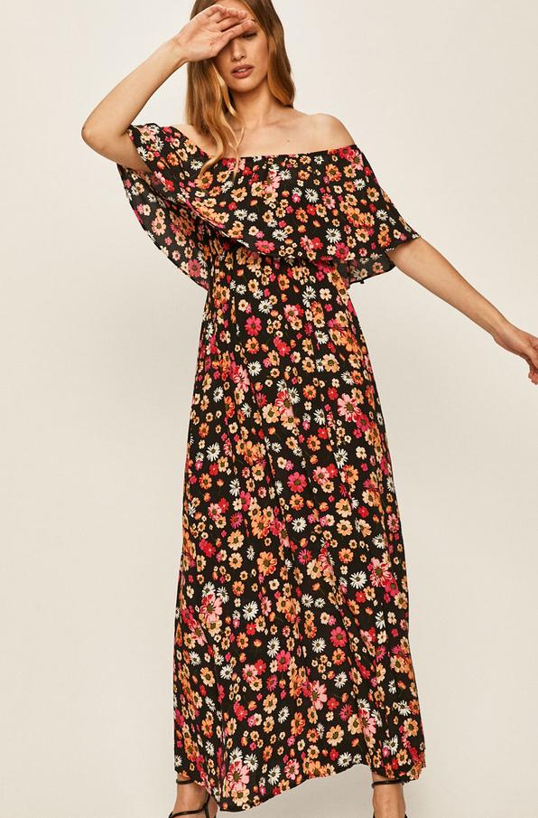 Sukienka Answear hiszpanka z krótkim rękawem z tkaniny