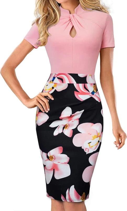 Sukienka Arilook ołówkowa z krótkim rękawem z bawełny
