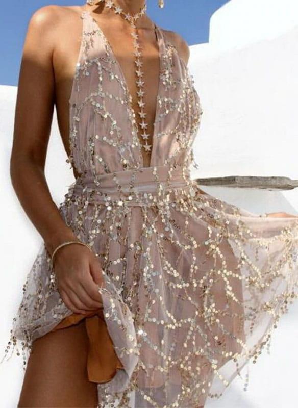 Sukienka Arilook z dekoltem typu choker mini