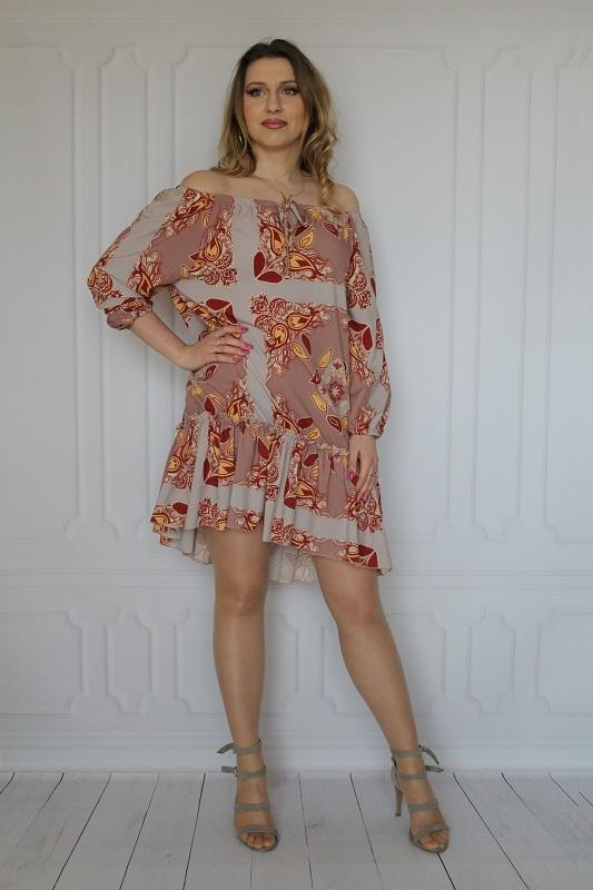 Sukienka arioso.pl mini z długim rękawem