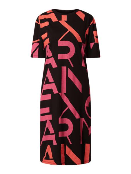Sukienka Armani Exchange koszulowa z bawełny