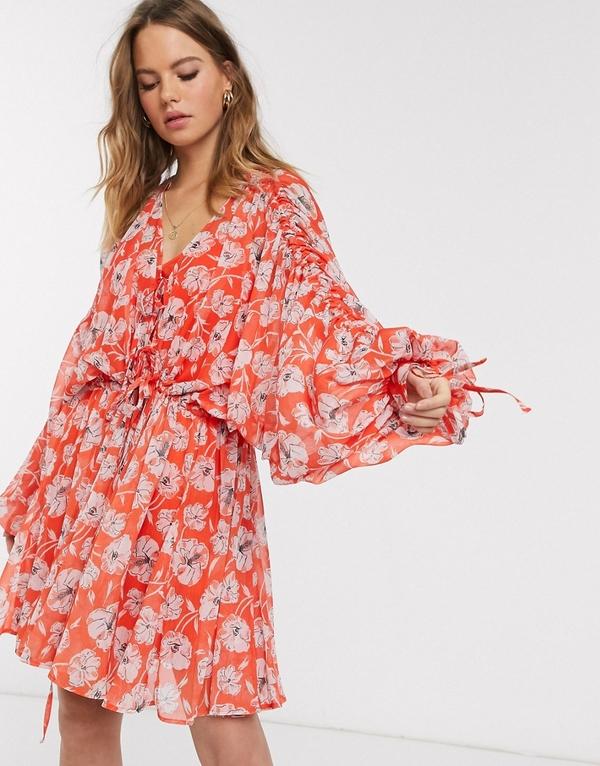 Sukienka Asos Design z dekoltem w kształcie litery v