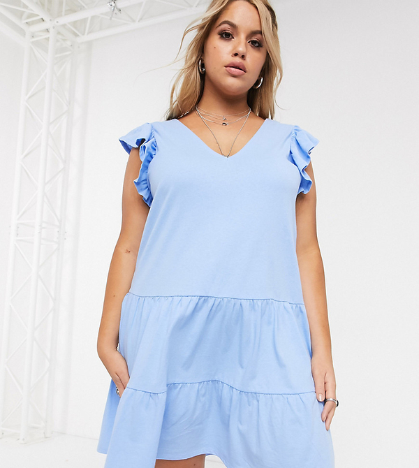 Sukienka Asos oversize z dekoltem w kształcie litery v